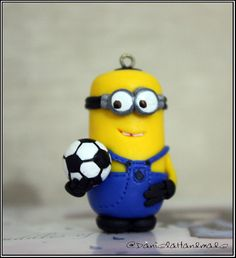 Soccer Player Minion Despicable me  figurine by danielahandmade, $20.00