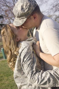 Patriotic Engagement Photos - Military Engagement Photos | Wedding Planning, Ideas & Etiquette | Bridal Guide Magazine