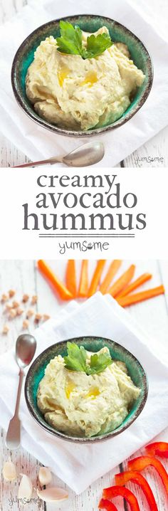 My delicious creamy avocado hummus is ready in just a few minutes, has only six ingredients, and is full of goodness. | yumsome.com
