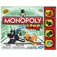 Monopoly Jr is Reimagined creating the ultimate junior experience of Classic Monopoly. This new version of Monopoly Jr will engage kids through story telling and bring the Tokens to life in their junior form. Age 5 - 8 years.