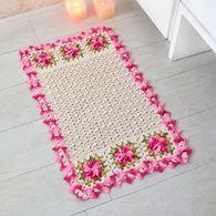 Receita • Tapete de Crochê Outubro Rosa
