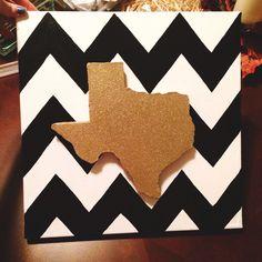 Texas chevron canvas