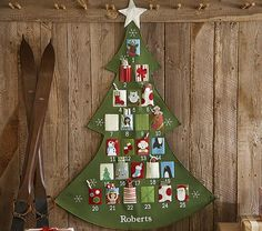 Countdown to Christmas with Pottery Barn Kids' advent calendars. Shop our knit Christmas advent calendars and make it a yearly tradition. Days Before Christmas, All Things Christmas, Christmas Holidays, Christmas Crafts, Christmas Decorations, Pottery Barn Advent Calendar, Diy Advent Calendar, Countdown Calendar, Pottery Barn Kids