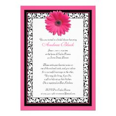 >>>Low Price Guarantee          Pink Gerbera Daisy Floral Bridal Shower Invitation           Pink Gerbera Daisy Floral Bridal Shower Invitation We have the best promotion for you and if you are interested in the related item or need more information reviews from the x customer who are own of t...Cleck Hot Deals >>> http://www.zazzle.com/pink_gerbera_daisy_floral_bridal_shower_invitation-161849736831959992?rf=238627982471231924&zbar=1&tc=terrest