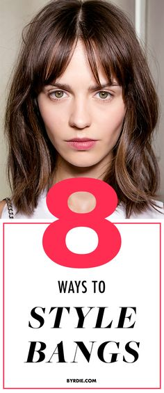 8 life-saving hair tips to put an end to flat, greasy, frizzy, and unruly bangs. #hair