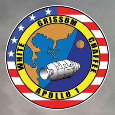 Apollo 1 sticker printed on vinyl. Durable and waterproof. Space Shuttle Missions, Nasa Missions, Apollo Missions, Space Patch, Nasa Patch, Apollo Space Program, Space Images, Our Solar System, Space Travel