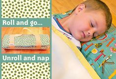 roll up nap blanket