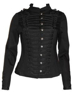 Sale Clearance 40% Off H&R Military Brocade Jacket Last 2 UK 8 Goth   BIG SALE NOW ON AT mouseyessim on ebay
