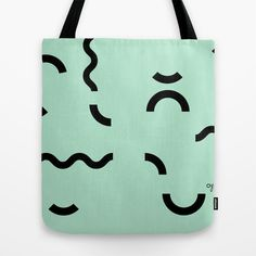 OY! green Funfetti Tote Bag by OY! prints & goods - $22.00