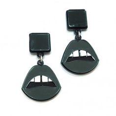 Black Lips Earrings