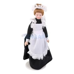 7,27 SPMART Dollhouse Miniature Porcelain Dolls 15,5 cm Victorian Servant w White Display Stand Free Shipping-in Dolls from Toys & Hobbies on Aliexpress.com | Alibaba Group