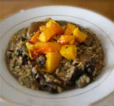 wild mushroom brown rice risotto -- honestly healthy