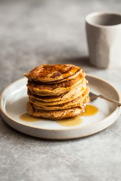 These sweet potato millet pancakes have a sweet flavor and feature the wholesome addition of millet, sweet potato puree, and fall spices.