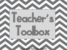 FREE! Chevron gray and yellow teacher toolbox labels.They fit a 26 drawer black teacher toolbox from the store Garden Ridge.20 small drawers6 l...
