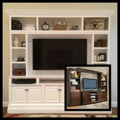 I have dark entertainment center. I want to paint it white