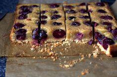 Cherry brown butter bars | smittenkitchen.com
