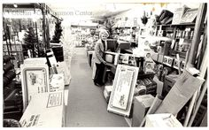 """ID#:0052 Date:1960s. Barbara Molyneaux with a new television in Watson's Hardware. She and her husband, Glenn Ingersoll Molyneaux, Jr., """"Jim"""" owned the business from 1946 to 1988. Participant:Barbara MolyneauxHistorical Information:Additional Sources:O.H.I.O. Resource Center: Fred Maddock files., Historic Preservation Commission, Survey 1998, City Directories;Internet correspondence from Jim Molyneaux, 01/16/01. Interview with Jim and Barbara Molyneaux, 6/00. Interview with Glenn Molyneaux…"""