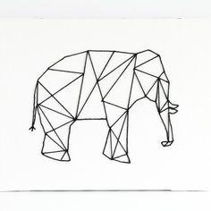 Geometic elephant/ Elefante geometrico