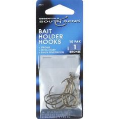South Bend Baitholder Hooks (10Pk) Sz-1  http://fishingrodsreelsandgear.com/product/south-bend-baitholder-hooks-10pk-sz-1/  Made of the highest quality materials Fishing terminal tackle hooks Another quality product