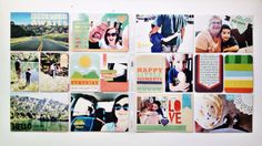 project life layout // by retrohipmama // using coral by deena rutter