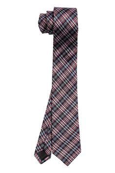 Hedvábná kravata   H&M #tie #chequered #HM #silk