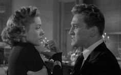 """Rick Martin (Kirk Douglas) to Amy (Lauren Bacall): """"You're like those carnival joints I used to work in. Big flash on the outside, but on the inside nothing but filth."""" -- from Young Man With a Horn (1950) directed by Michael Curtiz"""