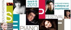 The Southeastern Piano Festival returns to the University of South Carolina, June 9-15   #FamouslyHot