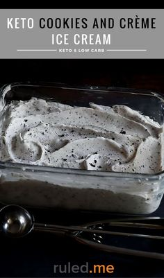 A delicious keto cookies and cream ice cream. Great for anyone that is also following a sugar free diet! #ketodiet #ketorecipes #ketogenicdiet