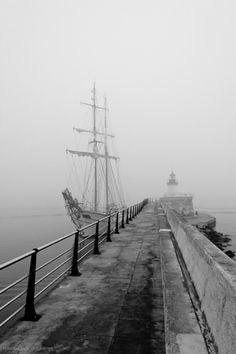 Ibiza von la niebla Puerto / Ibiza harbour in the mist #ibizaimages
