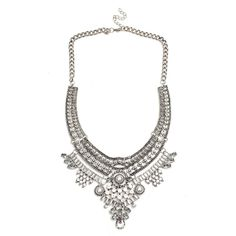 Crystal Chunky Choker Bib Statement Alloy Necklace