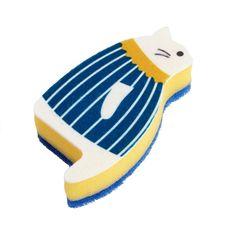 Cat sponge disksvamp från Hay. Rolig disksvamp som föreställer en sittande blå k...