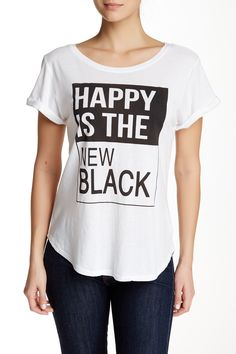 Recycled Karma - Happy Is The New Black Slub Tee at Nordstrom Rack. Free Shipping on orders over $100.