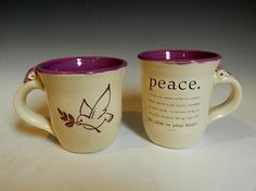 Purple peace cups by MarkCampbellCeramics on Etsy