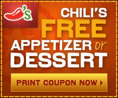 Free Appetizer or Desert