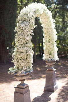 24 Baby's Breath Wedding Ideas For Rustic Weddings ❤ These small white and blush buds will add a fragrant smell and an airy aesthetic to your celebration. See our gallery of baby's breath wedding ideas: www. Wedding Ceremony Ideas, Ceremony Arch, Outdoor Ceremony, Wedding Arches, Wedding Advice, Wedding Reception, Arco Floral, Floral Arch, Decoration Table