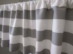 Curtain Valance Window Curtain Gray and by CottageHomeCouture