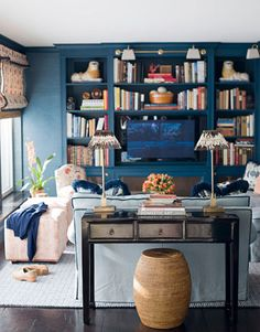 Prussian Blue Media Room