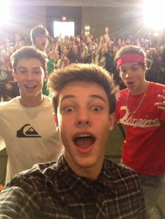 Cameron Dallas, Taylor Caniff, and Shawn Mendes