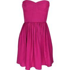 Perfect Party silk mini dress Rebecca Taylor (475 BRL) ❤ liked on Polyvore featuring dresses, vestidos, vestiti, pink, women, zipper corset, purple cocktail dresses, corset dresses, pink corset and pink silk dress