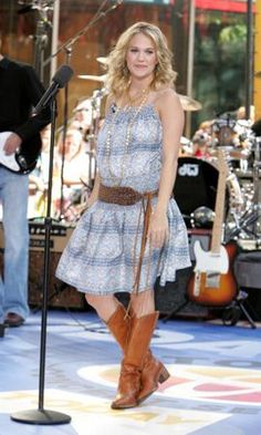 The Evolution of Carrie Underwood -- From girl next door, to superstar, her style transformation will blow you away! Click here to see the rest of the photo gallery.