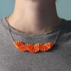 Origami Paper Necklace