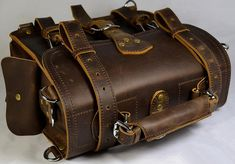 Leather Briefcase 12inches by Marlondo Leather via Etsy.....OR, instead of buying a KNOCKOFF, just buy a quality Saddleback Leather product!!!!!
