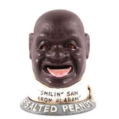 The Salted Peanut Man Cast Iron Bank