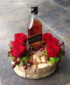 Whisky fles decoratief verpakt voor een 40ste verjaardag!