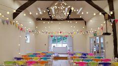 Monkton Barn Marlow A beautiful summer wedding at a wonderful location. Warm white festoon canopy ready for the ceremony and evening's entertainment. #eventprofs #buckinghamshire #marlow #festoon