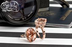 These sparkly Morganite rings will go perfectly with every outfit, whether it's an evening out in Paris or a day photographing landmarks in Italy! [Promotional Pin]