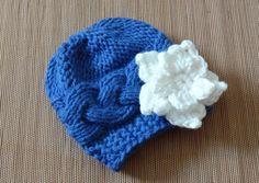 Baby Hat Baby Girl Hat in flower Newborn Hat Photo Props by Ifonka, $17.00