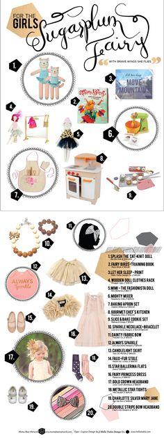 Sweet Gift Guide for your Sugar Plum Fairy via momsbestnetwork.com & babiekinsmag.com