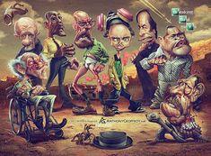 Se film e serie tv sono il vostro pane quotidiano, amerete le splendide caricature dell'illustratore francese Anthony Geoffroy!