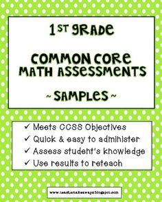 I have been teaching with the Common Core State Standards for 3 years. During this time, assessments have been given to students on a weekly basis. Common Core Math, Common Core Standards, Math Stations, Math Centers, 1st Grade Math, Grade 1, Student Teaching, Teaching Tips, Math School